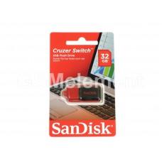 USB флеш-накопитель 32Gb SanDisk Z52 Cruzer Switch Black/Red