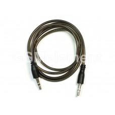 Аудио-кабель Jack 3.5mm - Jack 3.5mm AUX, JD-22, силикон круглый, (1.0 m), чёрный