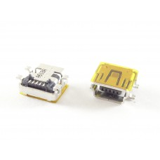 Разъем системный mini USB 5 pin для GPS навигаторов/электронных книг (на плату) тип 1