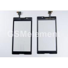 Тачскрин Sony D2302/D2303/D2305/D2306 (Xperia M2/M2 Dual) чёрный