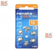 Элемент питания RENATA ZA13 BL6 (блистер 6 шт.)