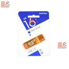 USB флеш-накопитель 16Gb SmartBuy Glossy series Orange