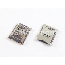 Коннектор SIM Samsung A300F/A500F/A700FD