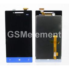 Дисплей HTC 8S в сборе с тачскрином синий
