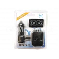 FM-модулятор Car T710D (SD/microSD/USB) чёрный (в бело-голубом блистере)