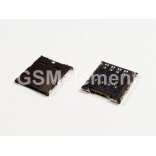 Коннектор SIM Samsung C101/S4 Zoom/ Alcatel OT-6010D/OT-6030D/OT-6033X