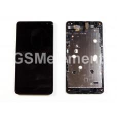 Дисплей Microsoft 535 Lumia (RM-1090) модуль в сборе чёрный, оригинал china