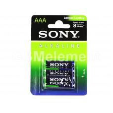 Элемент питания Sony Alkaline AAA LR03-4BL (48)