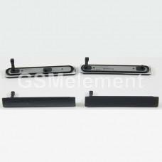 Набор заглушек (USB + MicroSD) Sony D5803 (Xperia Z3 Compact) чёрный