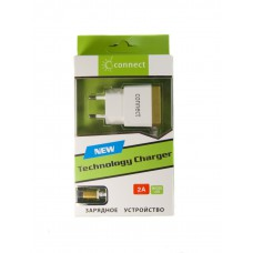 СЗУ Connect Technology micro USB 2000 mA, бело-золотой