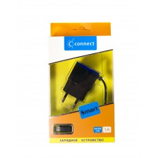 СЗУ Connect Smart micro USB 1000 mA, чёрно-синий