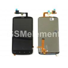 Дисплей HTC Sensation в сборе с тачскрином чёрный
