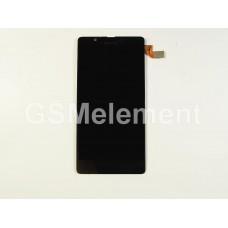 Дисплей Microsoft 540 Lumia Dual (RM-1141) модуль в сборе чёрный, оригинал