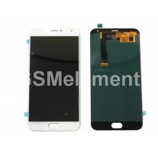 Дисплей Meizu MX5 в сборе с тачскрином белый