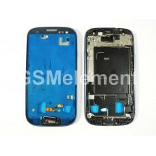 Дисплейная рамка Samsung i9300 Galaxy S3 с кнопкой HOME, синий