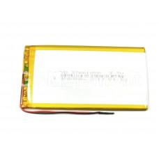 АКБ универсальная 3766125p 3,7v Li-Pol 4000 mAh (2 провода)