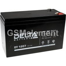 Аккумулятор свинцовый 12V-7Ah 151х65х101 Delta DT1207