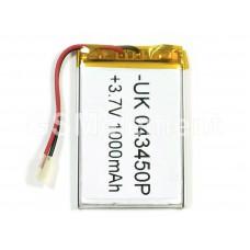 АКБ универсальная 043450p 3,7v Li-Pol 1000 mAh