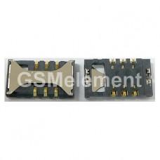 Коннектор SIM Samsung i8160/i8190/i8200/E2232/i8350/S5260/S5302/S5660/S7250/S7270/S7272/S7500