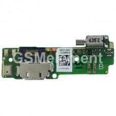 Шлейф (субплата) Sony F3111/F3112 (Xperia XA/XA Dual) на системный разъём, оригинал