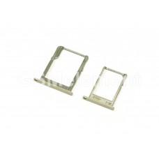 Контейнер SIM+MMC Samsung A300F/A500F/A700F (комплект) золото