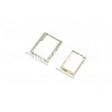 Контейнер SIM+MMC Samsung A300F/A500F/A700F (комплект) белый