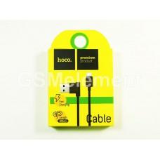 USB датакабель micro USB Hoco UPM10 L-образный дизайн (1.0 A, 1.2 m) чёрный
