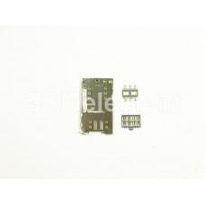 Коннектор SIM+MMC Meizu M2 mini/M3 Note/M3s mini/U10/U20 (комплект)