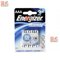 Элемент питания Energizer AAA FR03-4BL Ultimate Lithium