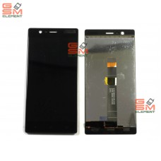 Дисплей Nokia 3 Dual Sim (TA-1032) в сборе с тачскрином чёрный