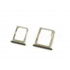 Контейнер SIM+MMC Samsung A300F/A500F/A700F (комплект) чёрный