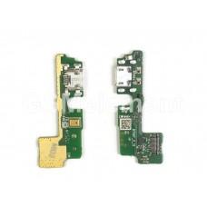 Шлейф (субплата) Huawei Honor 6A на системный разъём, микрофон