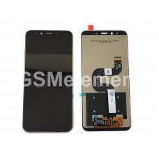 Дисплей Xiaomi Mi A2/Mi 6X в сборе с тачскрином чёрный