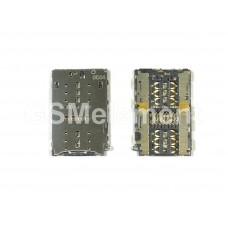 Коннектор SIM+MMC Huawei Honor 5C/Honor 6A/Honor 7/Honor 8/P9/P9 Lite/P9 Plus/Meizu M3E