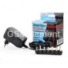 Импульсный блок питания Robiton TN1000S (1000 mA/ 3В-12В/ 7 штеккеров/ защита от КЗ)