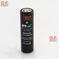 Аккумулятор IMR20700A Power Extreme 3100mAh 3.7V (Max. Pulse: 50 Amp) Li-Ion
