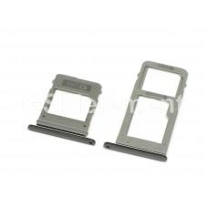 Контейнер SIM+MMC Samsung A520F/A530F/A720F/A730F (комплект) чёрный