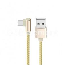 USB датакабель Type-C Borofone BX12 (1.0 m) в переплёте, золото