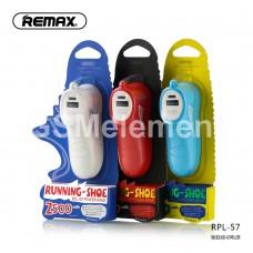 Внешний аккумулятор Remax RPL-57, Running-Shoe, 2500 mAh, синий