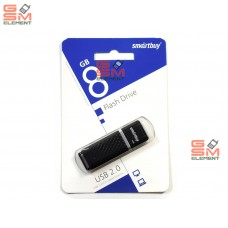 USB флеш-накопитель 8Gb SmartBuy Quartz series Black