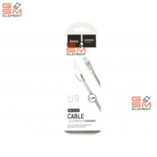 USB датакабель micro USB Hoco U9 Zinc Alloy Jelly, силиконовый с метал. наконечником (1,2 m) серебро