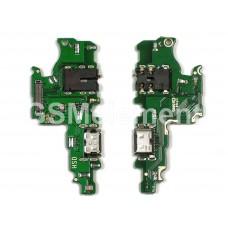 Шлейф (субплата) Huawei Honor View 10 (BKL-L09) на системный разъём, микрофон