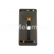 Дисплей Nokia 2 (TA-1029) в сборе с тачскрином чёрный