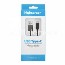 USB датакабель Type-C 3.1 Highscreen (1.0 m), чёрный