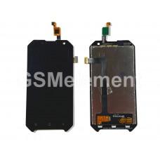 Дисплей Blackview BV6000/BV6000S в сборе с тачскрином чёрный