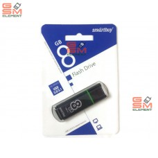 USB флеш-накопитель 8Gb SmartBuy Glossy series Grey (USB 3.0/3.1)