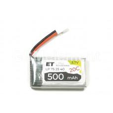 АКБ высокотоковая Energy Technology LP 752540 20C 3,7v Li-Pol 500 mAh