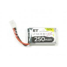 АКБ высокотоковая Energy Technology LP 682030 20C 3,7v Li-Pol 250 mAh