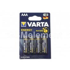 Элемент питания Varta ENERGY AAA LR03-4BL