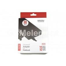Сетевой адаптер питания для ноутбуков, универс., (80W, 13 коннекторов, USB 5V/1A) Ginzzu GA-2180U